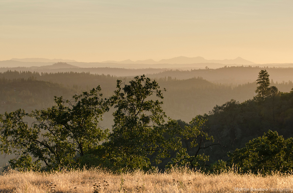 View of the Sierra Nevada from Ridge Road, Amador County, California