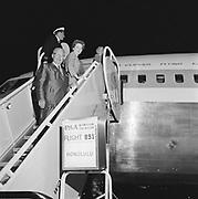 "Y-591002-04. ""707 jet. Pan Am first flight to Honolulu. Chuck White. October 2, 1959"" (Portland International Airport, Portland Columbia Airport)"