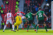 Kieran Sadlier of Doncaster Rovers (22) scores a goal to make the score 1-0 during the EFL Sky Bet League 1 match between Doncaster Rovers and Coventry City at the Keepmoat Stadium, Doncaster, England on 4 May 2019.