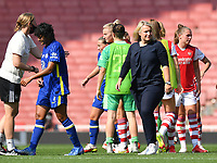 Football - 2021 / 2022 Women's Super League - Arsenal vs Chelsea - Emirates Stadium - Sunday 5th September 2021<br /> <br /> Chelsea FC Women's Manager Emma Hayes dejected at the final whistle.<br /> <br /> COLORSPORT/Ashley Western