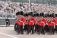 LONDON - JUNE 05: Coldstream Guards, The Queen's Diamond Jubilee, The Mall, London, UK. June 05, 2012. (Photo by Richard Goldschmidt)