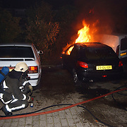 5 auto's in brand door pyromaan Eem Huizen, publiek