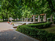 Park miejski w centrum Krynek, Polska<br /> Park in the center of Krynki, Poland