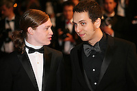 Caleb Landry Jones and Brandon Cronenberg attending the gala screening of The Sapphires at the 65th Cannes Film Festival. Saturday 19th May 2012 in Cannes Film Festival, France.
