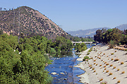 Los Angeles River at Glendale Narrows, Atwater, Los Angeles, California, USA