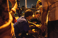 An young man injured during clashes between Muslim Brotherhood supporters and anti-Morsi groups on the 6th of October bridge in Cairo.