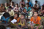 Children from a Dalit community take part in education classes. MSS facilitate programs targeting children of rural communities in the Maharjganj district.