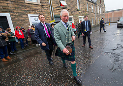 The Duke of Rothesay arrives at a reception in the workspace of the family owned and run business of Hawico, to celebrate British Industry in Hawick. Also present were local businesses from the initiative 'Famously Hawick'.