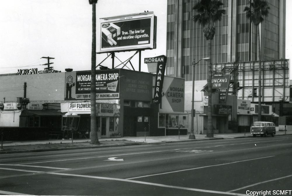 1973 Morgan Camera Shop at Sunset Blvd. at Argyle Ave.