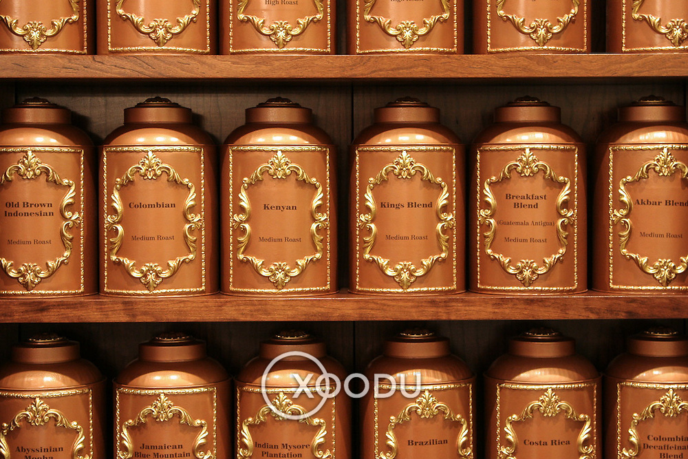 Coffee Pots at Fortnum & Mason, London, England (May 2007)