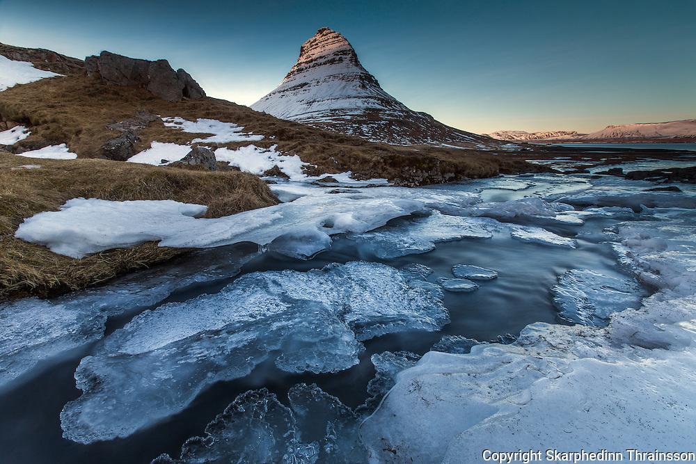 Kirkjufell in Grundarfjörður, west Iceland
