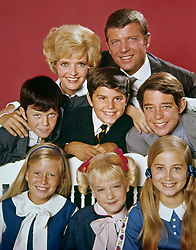November 24, 2016 - File - FLORENCE AGNES HENDERSON (February 14, 1934 - November 24, 2016) was an American actress and singer with a career spanning six decades. She is best remembered for her starring role as matriarch Carol Brady on the ABC sitcom The Brady Bunch from 1969 to 1974. Henderson also appeared in film as well as on stage and hosted several long-running cooking and variety shows over the years. She was a contestant on Dancing with the Stars in 2010. Pictured: 1969 - Florence Henderson, Robert Reed, Mike Lookinland, Christopher Knight, Barry Williams, Eve Plumb, Susan Olsen, Maureen McCormick, ''The Brady Bunch'' (Credit Image: © ABC/Entertainment Pictures via ZUMA Press)