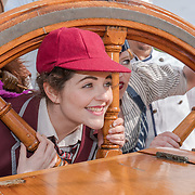 Cutty Sark , London, UK. 21th July 2017. Jordan Leigh-Harris (Boy), Lewis Carroll's The Hunting of the Snark, will be visiting the Cutty Sark this Friday to celebrate their west end debut by Vaudeville Theatre