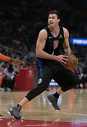 March 8, 2019 - Los Angeles, California, United States of America - Danilo Gallinari #8 of the Los Angeles Clippers during their NBA game with the Oklahoma Thunder on Friday March 8, 2019 at the Staples Center in Los Angeles, California. Clippers defeat Thunder, 118-110.  JAVIER ROJAS/PI (Credit Image: © Prensa Internacional via ZUMA Wire)