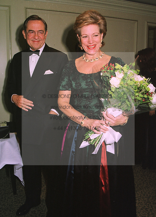 EX KING CONSTANTINE and QUEEN ANN-MARIE OF GREECE, at a ball in London on 8th November 1998.MLP 46