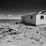 Abandoned Chaco Reservation House - New Mexico - Black & White