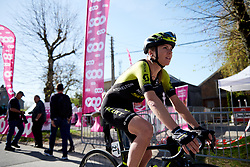 Annemiek van Vleuten (NED) makes her way to the start at La Flèche Wallonne Femmes 2018, a 118.5 km road race starting and finishing in Huy on April 18, 2018. Photo by Sean Robinson/Velofocus.com