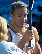 Shunyi, CHINA. Great Britain's,  Fridays   Men's Kayak single [K1] 1000m, final GBR K1 Tim BRABANTS  at the 2008 Olympic Canoe/Flatwater Racing, Shunyi Rowing-Canoeing Course. Friday - 22/08/2008,  [Mandatory Credit: Peter SPURRIER, Intersport Images]