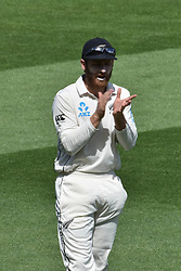 March 26, 2018 - Auckland, Auckland, New Zealand - Kane Williamson of Blackcaps during Day Five of the First Test match between New Zealand and England at Eden Park in Auckland on Mar 26, 2018. (Credit Image: © Shirley Kwok/Pacific Press via ZUMA Wire)