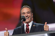 Rep. Chris Collins of New York addresses delegates during the roll call on the second day of the Republican National Convention July 19, 2016 in Cleveland, Ohio. The delegates formally nominated Donald J. Trump for president after a state by state roll call.