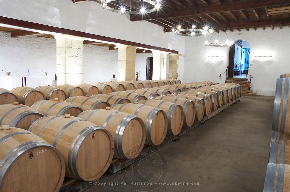 barrel aging cellar chateau trottevieille saint emilion bordeaux france