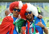 """tifosi italiani (Italia)<br /> Danzica 10/06/2012  """"GDANSK ARENA""""<br /> Football calcio Europeo 2012 Spagna vs Italia<br /> Football Calcio Euro 2012<br /> Foto Insidefoto Alessandro Sabattini"""