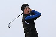 Evan Farrell (Ardee) on the 4th tee during Round 3 of The West of Ireland Open Championship in Co. Sligo Golf Club, Rosses Point, Sligo on Saturday 6th April 2019.<br /> Picture:  Thos Caffrey / www.golffile.ie