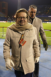 December 13, 2018 - Zagreb, Croatia - ZAGREB, CROATIA - DECEMBER 13 :  Marc Coucke president of Anderlecht and Michael Verschueren sport director of Anderlecht pictured during the Europa League Group Stage - Group D match between Dinamo Zagreb and Rsc Anderlecht on december 13, 2018 in Zagreb, Croatia, 13/12/2018 (Credit Image: © Panoramic via ZUMA Press)