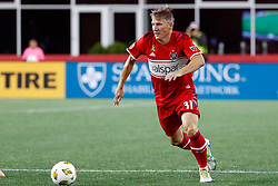 September 22, 2018 - Foxborough, MA, U.S. - FOXBOROUGH, MA - SEPTEMBER 22: Chicago Fire midfielder Bastian Schweinsteiger (31) pushes the ball forward during a match between the New England Revolution and the Chicago Fire on September 22, 2018, at Gillette Stadium in Foxborough, Massachusetts. The teams played to a 2-2 draw. (Photo by Fred Kfoury III/Icon Sportswire) (Credit Image: © Fred Kfoury Iii/Icon SMI via ZUMA Press)