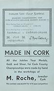 Munster Senior and Minor Hurling Championship Final, .11081935MSMHCF,..11.08.1935, 08.11.1935, 11th August 1935,.Senior Limerick v Tipperary,.Minor Tipperary v Cork,..M Roche, Jeweller Cork,