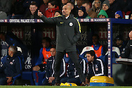 Pep  Guardiola, the Manchester City manager giving orders from the touchline. Premier League match, Crystal Palace v Manchester city at Selhurst Park in London on Saturday 19th November 2016. pic by John Patrick Fletcher, Andrew Orchard sports photography.