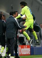 Fotball<br /> 30.09.2008<br /> UEFA Champions League<br /> Foto: Witters/Digitalsport<br /> NORWAY ONLY<br /> <br /> 0:1 Jubel Juninho Lyon<br /> Champions League Bayern München - Olympique Lyon