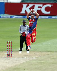 Hardus Viljoen of the Bizhub Highveld Lions during the T20 Challenge cricket match between the Lions and the Warriors at the Kingsmead stadium in Durban, KwaZulu Natal, South Africa on the 4th December 2016<br /> <br /> Photo by:   Steve Haag / Real Time Images