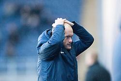 Hamilton's manager Alex Neil.<br /> Falkirk 0 v 0 Hamilton, Scottish Championship game at The Falkirk Stadium. © Michael Schofield 2014.