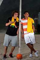 Fifa Brazil 2013 Confederation Cup / <br /> Brazil National Team - ( Sao Conrado Beach - Rio de Janeiro , Brazil ) -<br /> Thiago Silva ( Right ) and David Luiz ( Left ) player of Brazil - Interview