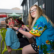 14.06.2018.             <br /> Limerick Food Group hosted the Urban Food Fest street food evening in the Milk Market on Thursday June 14th with a 'Summer Fiesta' theme in one big Limerick city summer party.<br /> <br /> Pictured at the event were, Theo O'Riordan and Pia Roycroft. Picture: Alan Place