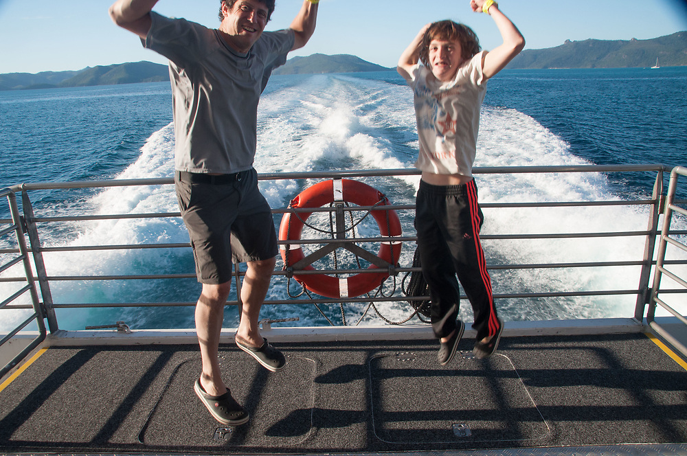 Max and Roddy Coming Back from the Great Barrier Reef, Whitsunday islands,  Queensland, Australia