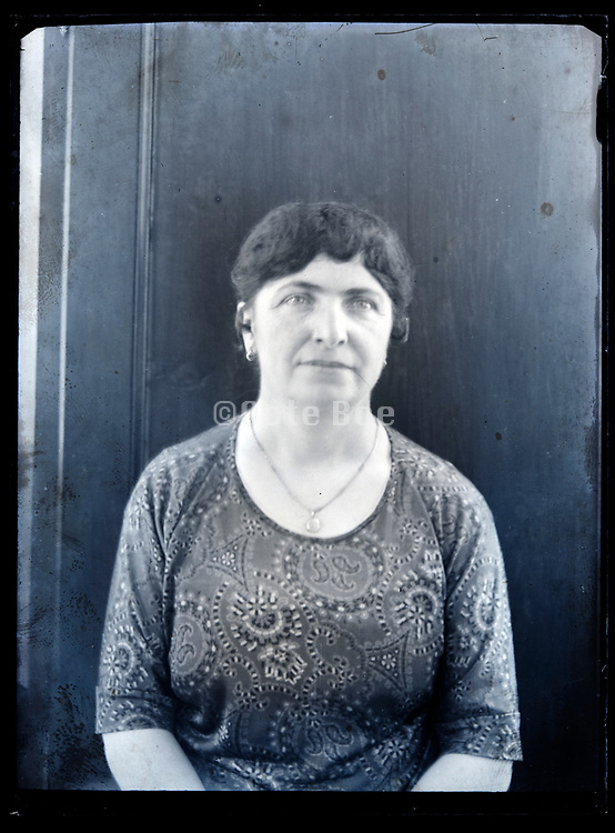portrait of adult woman with face out of focus circa 1930s