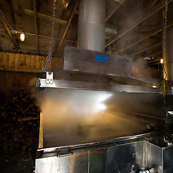 A sap evaporator in a sugar house in Barrington, New Hampshire.  The Sugar Shack.