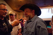 Chuck Allen being interviewed about Dead End Express by a local radio station.