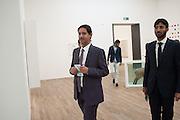 SHEIKH HASSAN BIN MOHAMMED AL THANI, Damien Hirst, Tate Modern: dinner. 2 April 2012.