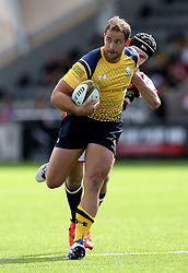 Jaike Carter of Worcester Warriors runs with the ball - Mandatory by-line: Robbie Stephenson/JMP - 30/07/2016 - RUGBY - Kingston Park - Newcastle, England - Worcester Warriors v Leicester Tigers - Singha Premiership 7s