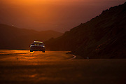 June 26-30 - Pikes Peak Colorado. David Hackl runs his car during practice for the 91st running of the Pikes Peak Hill Climb.
