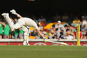 BRISBANE, AUSTRALIA - DECEMBER 20:  Steve Smith of Australia is run out during day four of the 2nd Test match between Australia and India at The Gabba on December 20, 2014 in Brisbane, Australia.  (Photo by Matt Roberts - CA/Cricket Australia/Getty Images)