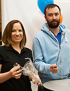 27/11/2016 REPRO FREE:   Creganna Medical Exhibition Team Nicola Walsh & Conor O'Rourke inNUI Galway as part of the Galway Science & Technology Festival.<br /> Photo: Andrew Downes, Xposure.