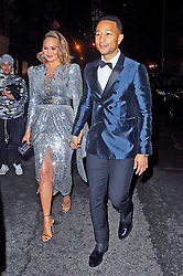 Chrissy Teigen and John Legend head to the Grammy's. 28 Jan 2018 Pictured: Chrissy Teigen and John Legend. Photo credit: MEGA TheMegaAgency.com +1 888 505 6342