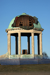 © licensed to London News Pictures. 13/06/2011. Barr Beacon, Birmingham. Thieves have stolen parts of the copper canopy from the War Memorial in Barr Beacon, Birmingham. Just over a year ago, copper was stolen and now further thefts have prompted the local MP to call for security measures to protect the memorial. Please see special instructions for usage rates. Photo credit should read Dave Warren/LNP
