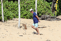 Pierce Brosnan takes a moment to meditate on the beach - 2 April 2020