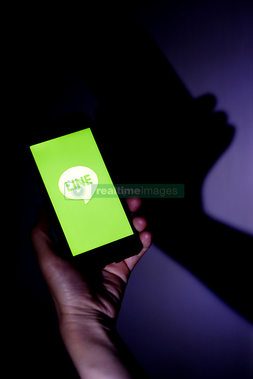 July 6, 2018 - Tokyo, Japan - he logo of free messaging app Line is pictured on a smartphone in this photo illustration taken in Tokyo, Japan July 06, 2018. (Credit Image: © Hitoshi Yamada/NurPhoto via ZUMA Press)