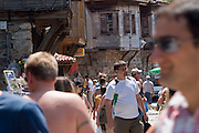 Sozopol, Bulgaria..Crowds of holidaymakers in the 6,000 year old town of Sozopol, which is visited by thousands of tourists every year